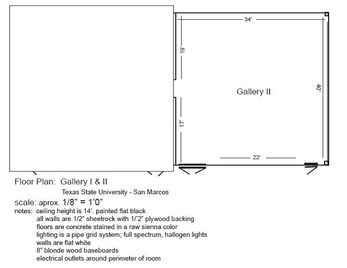 Floor Plan - Gallery I & II